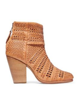 Woven Leather Ankle Boots by Rag & Bone