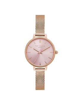 Ted Baker Women's Kate Mesh Bracelet Strap Watch, Rose Gold/Pink by Ted Baker
