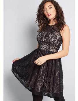 Lace To The Finish A Line Dress by Modcloth