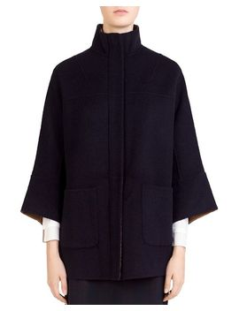Maddie Wool Stand Collar Coat by Gerard Darel