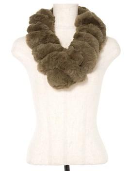 Faux Fur Twist Pull Through Scarf Id.36380 by 599 Fashion