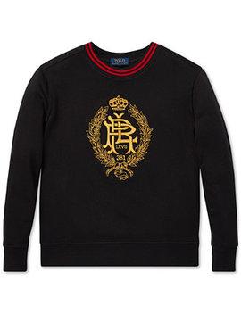 Big Boys Embroidered Fleece Sweatshirt by Polo Ralph Lauren