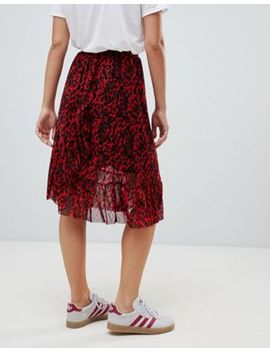 Only Thai Printed Frill Midi Skirt by Only