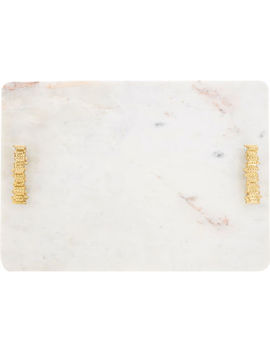 Large White Marble Tray 48x34cm by