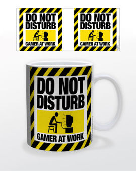 Do Not Disturb Gamer At Work 11 Oz Coffee Mug Video Game Action Software Graphic by Ebay Seller