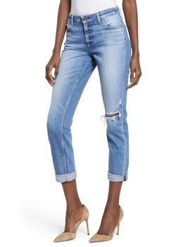 Brigitte Ripped Crop Boyfriend Jeans by Paige
