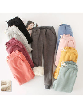 Lady Girls Winter Sport Harem Pants Thicken Fleece Casual Baggy Joggers Trousers by Unbranded