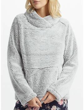 John Lewis & Partners Hi Pile Fleece Snuggle Top, Grey by John Lewis & Partners