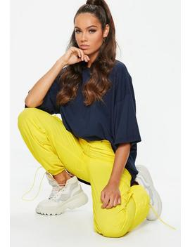 Yellow Combat Drawcord Pants by Missguided