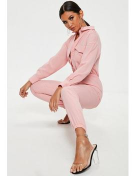 Pink Utility Jumpsuit by Missguided