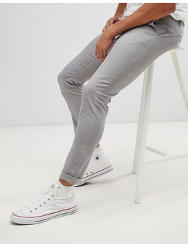 Asos Design   Skinny Chino In Lichtgrijs by Asos