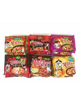 Samyang Spicy Chicken Hot Ramen Noodle Buldak Variety Collection: Nuclear, Original, Cheese, Curry,... by Fusion Select