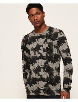 Orange Label Long Sleeve Camo Pocket Top by Superdry
