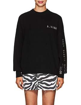 Embellished Wool Blend Crewneck Sweater by Alexander Wang
