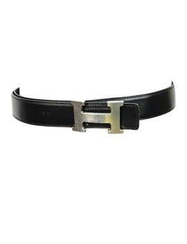 Black X Brown Leather H Cuir Seul 90 Palladium Men Buckle K In Box Belt by Hermès