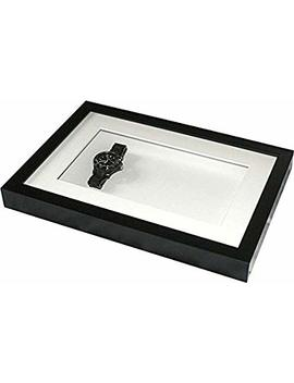 Deep Shadow Box Tall Display Frame, 12 X 8 For Medals, Pocket Watches,Keepsakes, Decoupage & 3 D Items by Spf Collecting