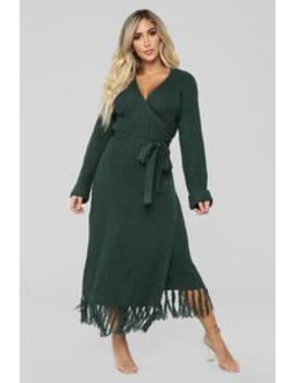 Wrap Me Up Dress   Hunter by Fashion Nova