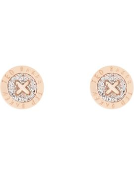 Ladies Ted Baker Rose Gold Plated Eisley Enamel Mini Button Earring Tbj1266 24 138 by Ted Baker Jewellery