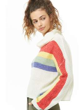 Striped Brushed Sweater by Forever 21