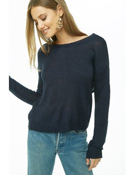 Ribbed Cross Back Sweater by Forever 21