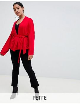 Boohoo Petite Belted Jersey Kimono by Boohoo