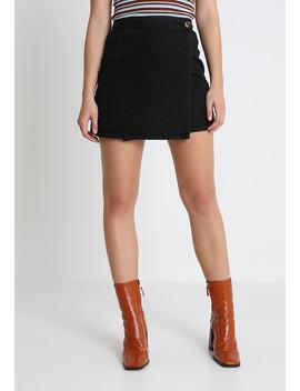 Button Wrap Skirt   Mini Skirts by Miss Selfridge
