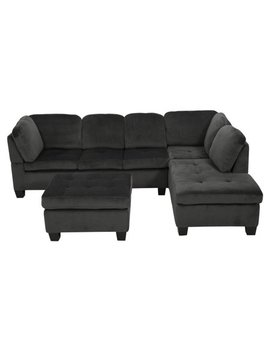 Evan 3 Piece Sectional Sofa by Best Selling Home