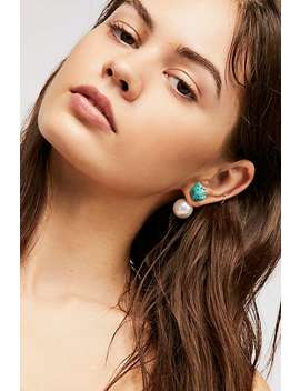 Raw Stone Double Sided Stud Earrings by Free People
