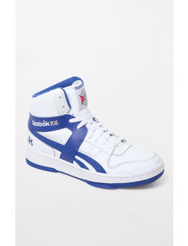 Reebok Bb 5600 Archive White & Royal Shoes by Pacsun