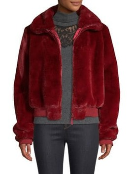 Heidi Faux Fur Bomber Jacket by Generation Love