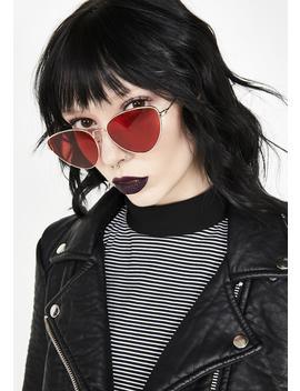Blazed Roll Out Cat Eye Sunglasses by Aj Morgan