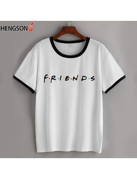 Friends Letter Print Women Fashion Crew Neck Short Sleeved Summer T Shirts Ld by Unbranded