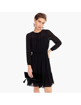 Cinched Waist Dress In Chiffon by J.Crew