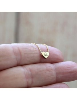 Tiny İnitial Heart Necklace Monogram Necklace Heart Necklace Personalized Necklace Heart Necklace İnitial Necklace Monogram Jewelry by Etsy