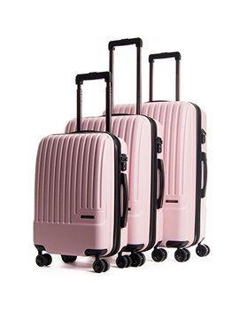 Calpak Davis Expandable Luggage Set, Light Pink by Cal Pak
