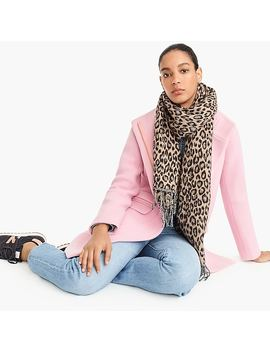 Wool Blend Scarf In Leopard by J.Crew