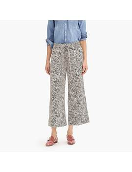 Wide Leg Cropped Pant In Leopard Print Silk by J.Crew