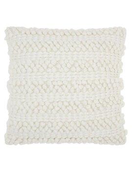 "Nourison Life Styles Woven Stripes Decorative Throw Pillow, 20"" X 20"", White by Nourison"