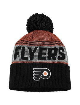 Philadelphia Flyers Adidas Mascot Cuffed Knit Hat With Pom – Black by Adidas