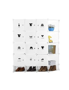 Zide Tang 12 Cubes Diy Portable Closet Wardrobe Organizer Storage System With Doors Color White by Zide Tang