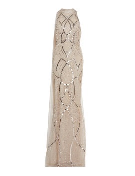 Draped Embroidered Column Gown by Zuhair Murad