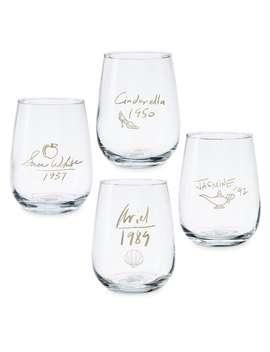Disney Princess Stemless Wine Glass Set   Disney Designer Collection by Disney