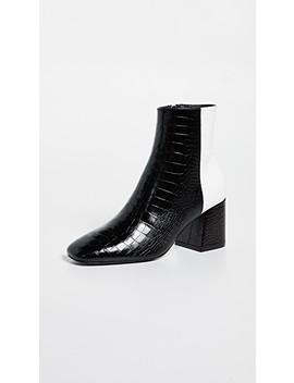 Charm Angled Heel Booties by Freda Salvador