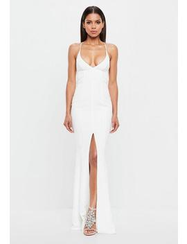 Peace + Love White Cami Fishtail Maxi Dress by Missguided