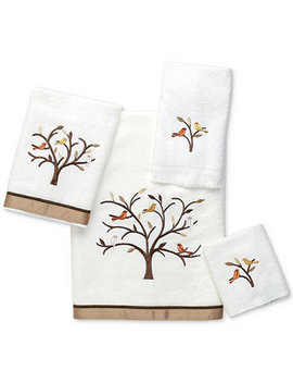 Friendly Gathering Cotton Embroidered Hand Towel by Avanti