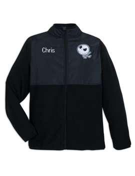 Jack Skellington Pieced Fleece Jacket For Adults   Personalizable by Disney