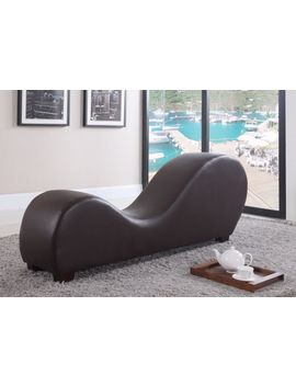 Brown Modern Bonded Leather Chair Stretching Relaxation Chaise Lounge Yoga Chair by Ebay Seller