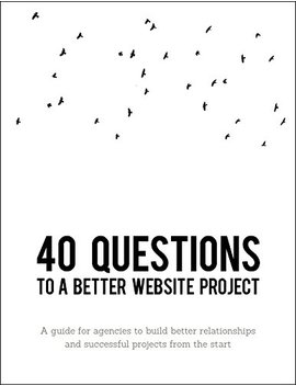 40 Questions To A Better Website Project: A Guide For Agency And Creative Professionals by Amazon