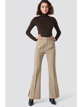 Seamline Suit Pants Beige by Na Kd