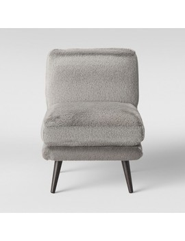 Harper Faux Fur Slipper Chair Gray   Project 62™ by Project 62™